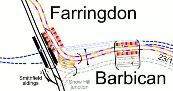Lines Through Farringdon Station