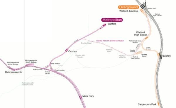 Rail Lines Around Watford