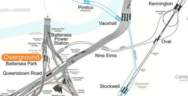 Rail Lines In The Battersea Area