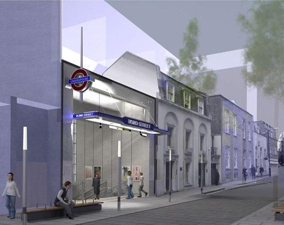 The New Marylebone Lane Entrance To Bond Street Station