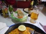 Gluten-Free Beer, Garlic Bread And Paella