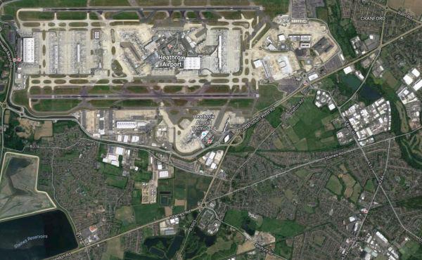 Heathrow Airport And Feltham Station