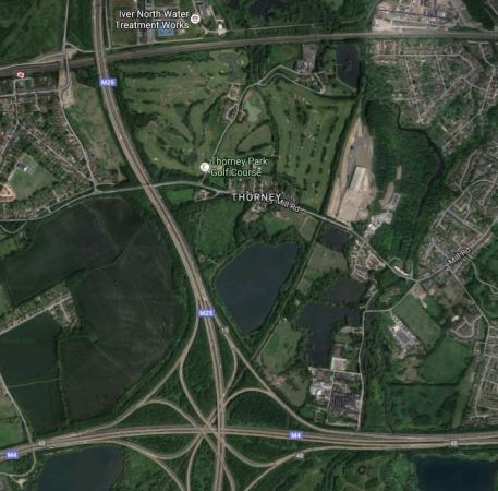 Crossrail And The M25 At Iver