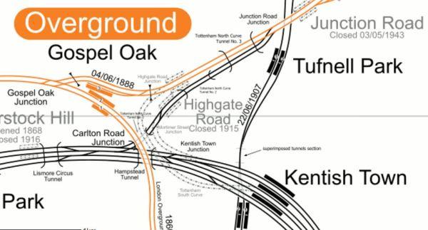 Lines Between Gospel Oak And Kentish Town