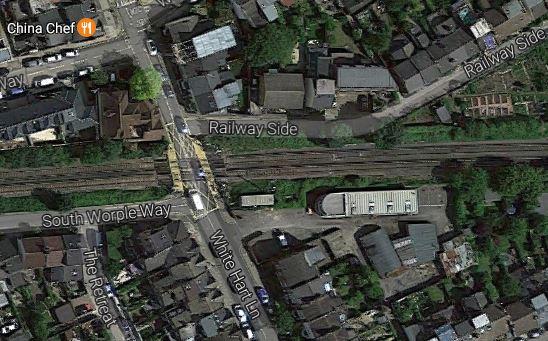 A Level Crossing In White Hart Lane, Barnes