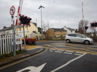 A Level Crossing In White Hart Lane, Barnes