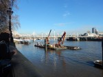 The Victoria Embankment Work-Site Of The Thames Tideway Tunnel