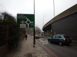Approaching Bricklayers Arms Roundabout From The West
