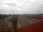 Looking South From A Footbridge To The North Of Lea Bridge Station