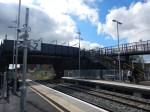 The Footbridge And Road Bridge At IlkestonStation