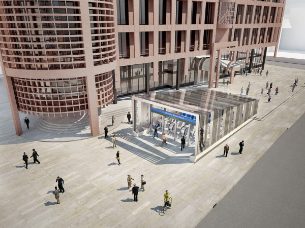 Crossrail Broadgate Entrance