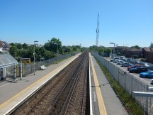 Looking Towards Eastbourne From The Footbridge At Hampden Park Station