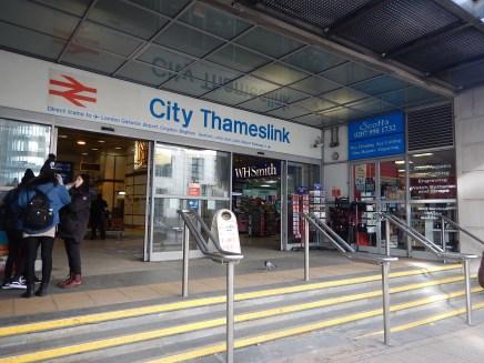 Southern Entrance To City Thameslink Station