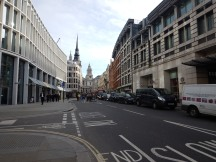 Looking Up Ludgate Hill To St. Paul's From Opposite The Southern Entrance To City Thameslink Station
