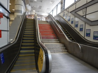 Double Escalators At City Thameslink Station