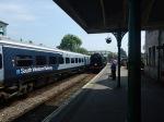 Trains At Corfe CastleStation