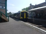 The Class 159 Train Ready To Leave Corfe CastleStation