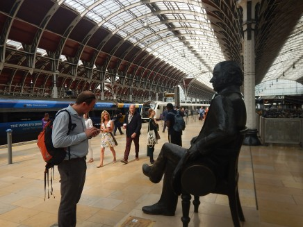 Brunel Looks On As A Class 345 Train Arrives