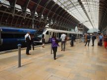 A Class 345 Train Arrives At Paddington