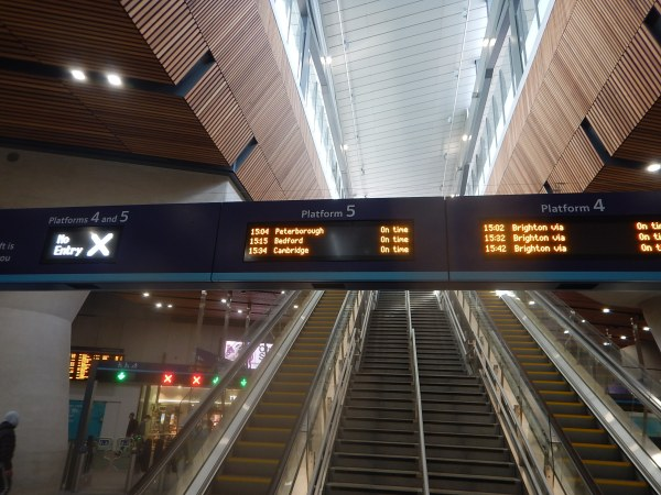 Thameslink Information At London Bridge Station - 3rd March 2018