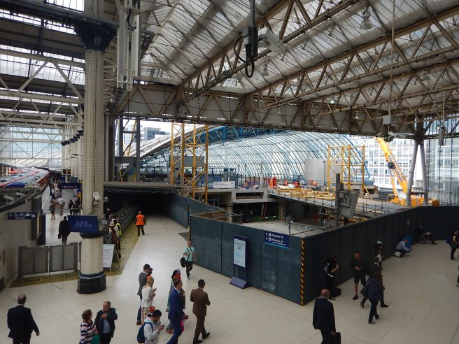 Progress On Access To Platforms 20-24 At Waterloo Station - June 21st 2018