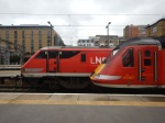Class 91 Locomotive With A Class 43 Locomotive