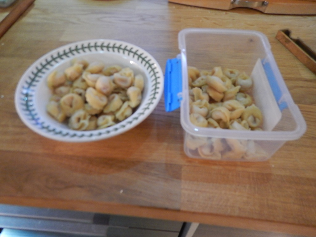 3.Split Pasta Into Two Portions And Put One In The Fridge